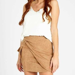 NEW Altar'd State Magnolia Camel Mini Skirt, S